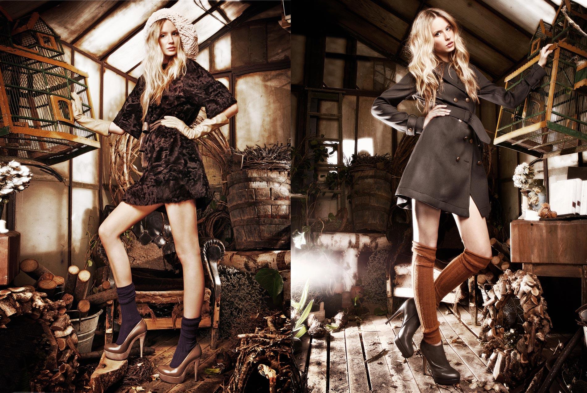 Campagna pubblicitaria calzature donna Fall Winter - Fotografo Filippo Marconi Concept LABO24 - Set designer FLO' - Modella agenzia FASHION (Milano) Hair-makeup Karin Borromeo Stylist Ilaria Chionna